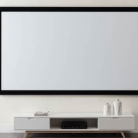 ASHB Audio Visual Fixed Frame Projector Screen