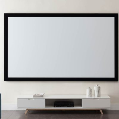WHSCR092FIXED Fixed Frame Projector Screen Front