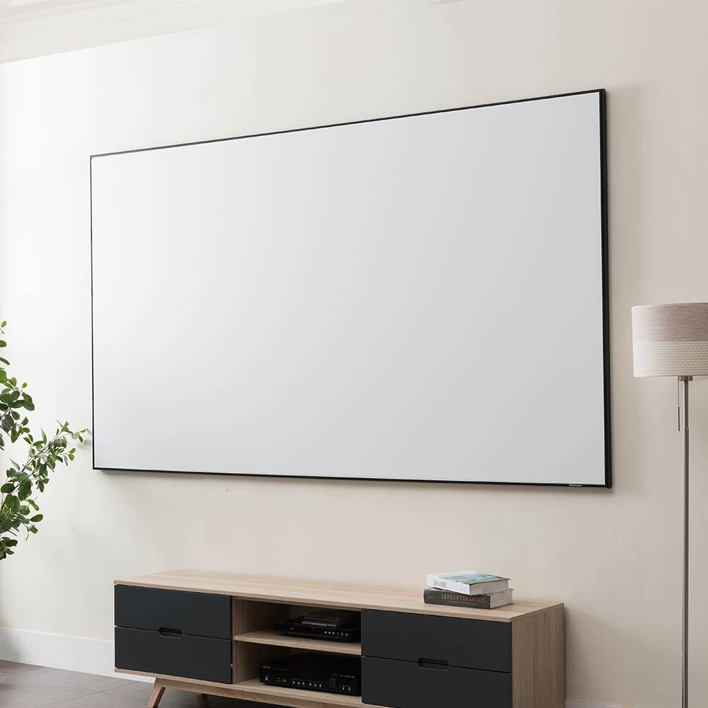 ASHB Audio Visual Thin Bezel Fixed Frame Projector Screen - ASHB Audio Visual